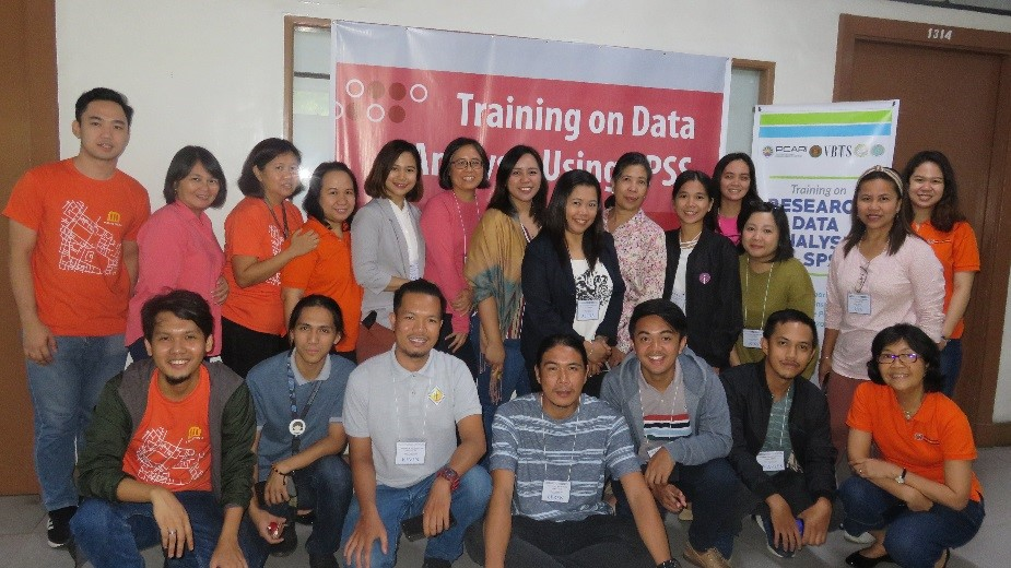 Trainers and trainees begin the 4-day event with smiles