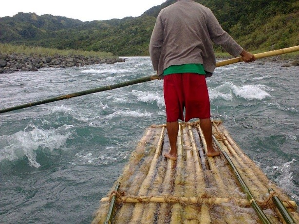 A rough, raft river ride is needed to reach
